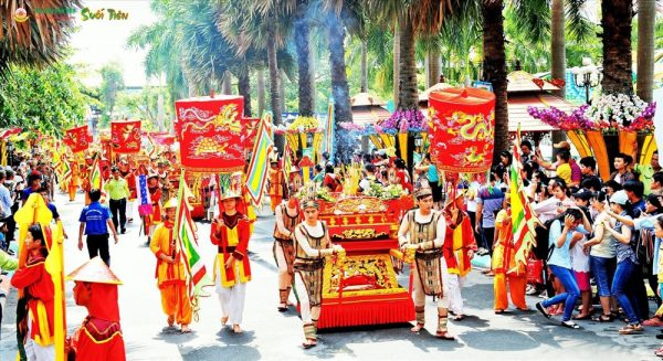 Thuyết minh về Giỗ tổ Hùng Vương- ngày quốc lễ, một nét sinh hoạt văn hoá tâm linh của người Việt.